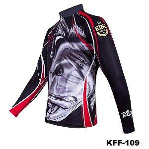Camiseta de Pesca King Com Proteção Solar UV50+ - KFF109