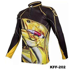 Camiseta de Pesca King Com Proteção Solar UV50+ - KFF202