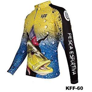 Camiseta de Pesca King Com Proteção Solar UV50+ - KFF60