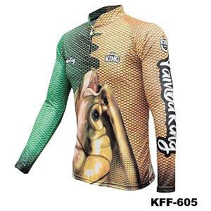 Camiseta de Pesca King Com Proteção Solar UV50+ - KFF605