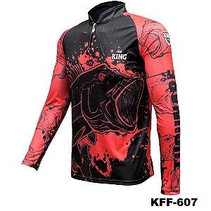 Camiseta de Pesca King Com Proteção Solar UV50+ - KFF607