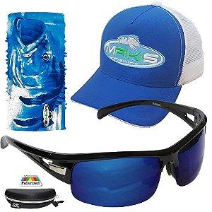 Kit Proteção Solar Makis Com Tube Neck Bone e Oculos DZ6501