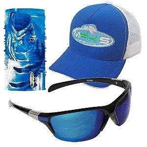 Kit Proteção Solar Makis com Tube Neck Bone e Oculos DZ6513