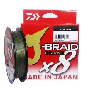 Linha Multifilamento Daiwa J-Braid Grand x8 135m 0,28mm 30lb