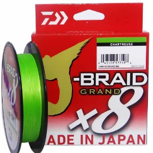 Linha Daiwa J-Braid Grand x8 135m 0,28mm 30lbs Chartreuse