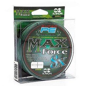 Linha Multifilamento Maruri Max Force PE X8 0.40mm 55lb 300M