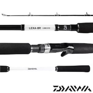 Vara Para Carretilha Daiwa Lexa Lx-802hfb-br 2,40m 20-50lbs Ideal Para Pesqueiros
