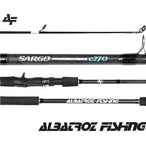 "Vara Para Carretilha Albatroz Sargo Carbon 9'0"" (2,70m) C2703 - 3 Partes"
