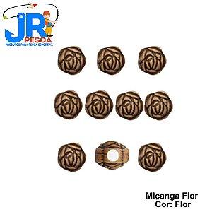 Miçanga Flor Ref. 518 JR Pesca com 10 Peças