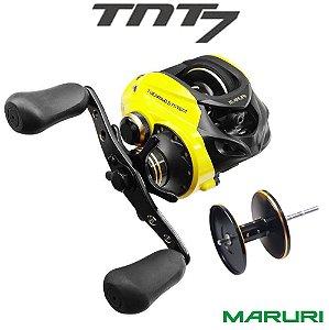 Carretilha Maruri TNT 7 Amarela Recolhimento 7.0:1 Com Carretel Extra