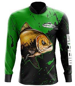 Camisa De Pesca Proteção Solar Uv50 Makis Fishing MK-02
