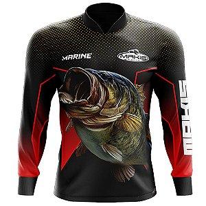 Camisa De Pesca Proteção Solar Uv50 Makis Fishing MK-05