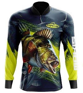 Camisa De Pesca Proteção Solar Uv50 Makis Fishing MK-06