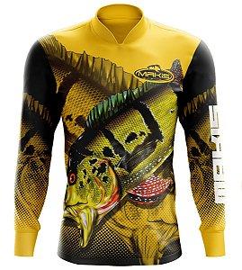 Camisa De Pesca Proteção Solar Uv50 Makis Fishing MK-07
