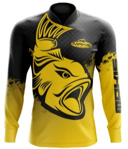 Camisa De Pesca Proteção Solar Uv50 Makis Fishing MK-09