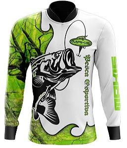 Camisa De Pesca Proteção Solar Uv50 Makis Fishing MK-10