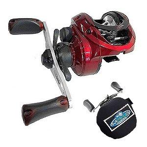 Carretilha Akita Sumax 10 Rolamnetos Drag 7kgs Com Capa de Proteção em Neoprene Makis Fishing