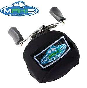 Capa Protetora em Neoprene para Carretilha Perfil Baixo Makis Fishing