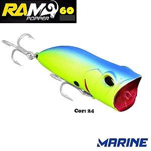 Isca Artificial Ram Popper 60 Marine Cor 24