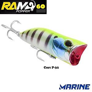 Isca Artificial Ram Popper 60 Marine Cor P-32
