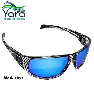 Óculos Polarizado Para Pesca Yara Dark Vision 1851 Lente Azul