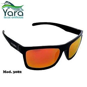 Óculos Polarizado Para Pesca Yara Dark Vision 3082 Lente Vermelha