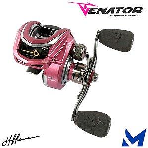 Carretilha Marine Venator Lite Pink By Johnny Hoffmann Recolhimento: 8.3:1