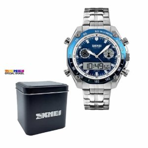 Relógio Masculino Skmei 1204 Analógico e Digital  Azul