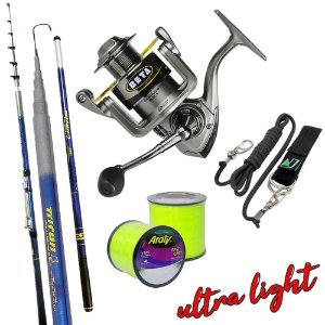 Kit Ultra Light Molinete Beta 200i Com Vara Triton 2,70mts Salva Vara e 2.600mts de Linha 0,20mm