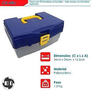 Maleta Caixa Organizadora Para Pesca 4 Bandejas Cx-4bj Hi