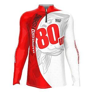 Camiseta de Pesca Mar Negro Tucunaré 80 UP Com Proteção Solar 50+ UV