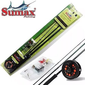 Kit Fly Fishing Para Iniciantes 7/8 Com Iscas Sumax