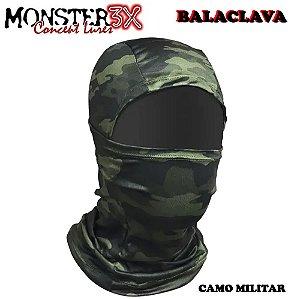 Mascara Balaclava de Proteção Solar Monster 3x Camo Militar