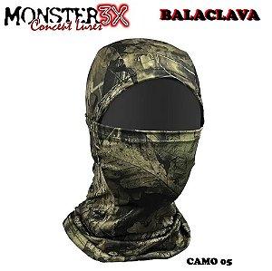 Mascara Balaclava de Proteção Solar Monster 3x Camo 05