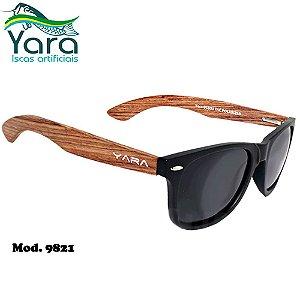 Óculos Polarizado Para Pesca Yara Dark Vision 9821 Wood Lente Smoke