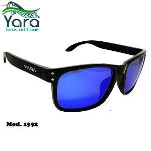 Óculos Polarizado Para Pesca Yara Dark Vision 1592 Classic Lente Azul Espelhada