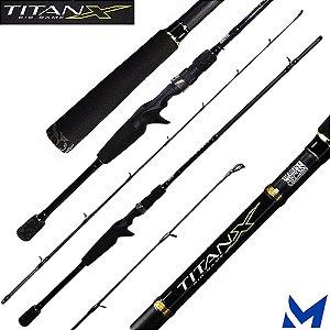 Vara Para Carretilha Marine Sports TitanX BG 2,74mts 20-40lbs TXBC-C902H - 2 Partes