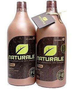 Kit Escova Progressiva 100% Orgânica NATURALE BRASIL (System F-0) - 1 litro