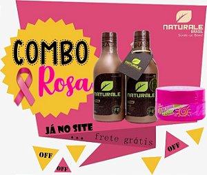 COMBO - Kit Escova Progressiva 100% Orgânica NATURALE  300ml + CREME DO VERÃO 300ML