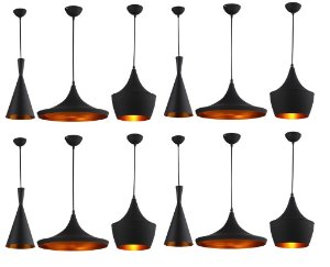 Kit Gold - 12 Pendentes réplica Tom Dixon - 4% OFF na compra do kit