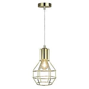 P12105-M-Gold – Pendente aramado dourado - Atacadista - Premier Iluminação