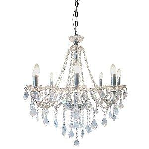P13253-8 – Lustre cristal transparente 8 braços - Atacadista - Premier Iluminação