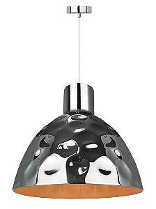 P16118-D35 - Pendente Metal Cromado Prata e Dourado - Atacadista - Premier Iluminação