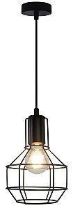 P12105-Black – Pendente aramado preto - Atacadista - Premier Iluminação