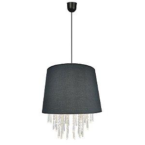 FS12001-Black – Pendente tecido e acrílico - Atacadista - Premier Iluminação