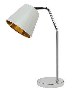 WL14040C-1T – Luminária cúpula branco-dourado - Atacadista - Premier Iluminação