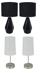 Kit-07 Inclui 4 abajures de mesa