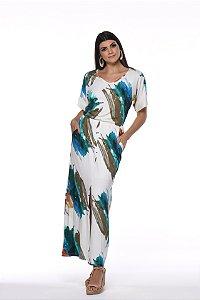 Vestido Longo Fenda Frontal
