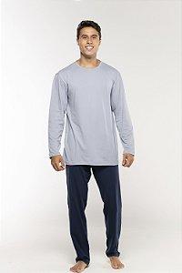 Pijama Masculino Gola O Manga Longa e Calça