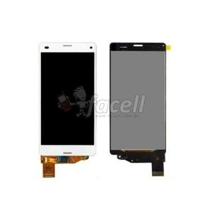 Touch + LCD (Frontal) Sony Xperia Z3 Compact D5803 / D5833 Branco - 1ª Linha